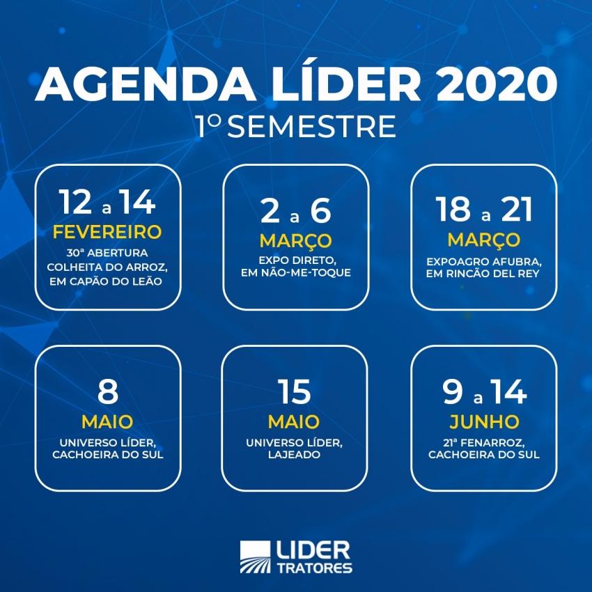 Agenda Líder 1º Semestre/2020