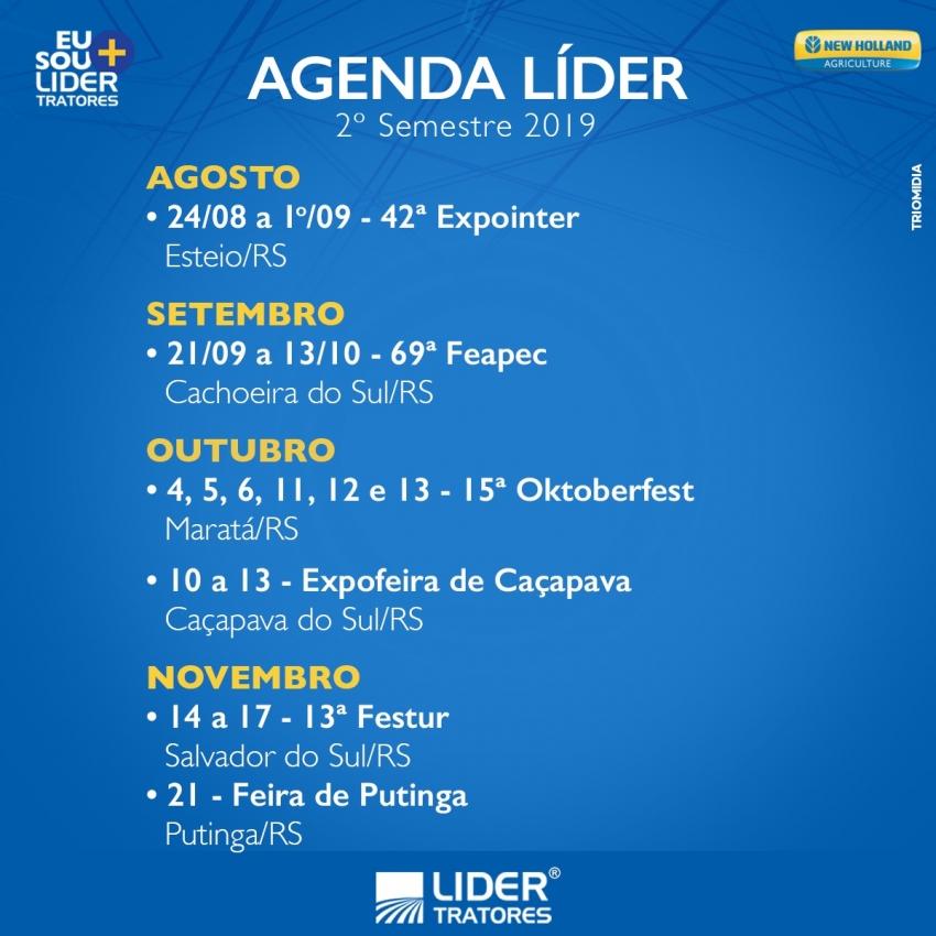 Agenda Líder 2º Semestre