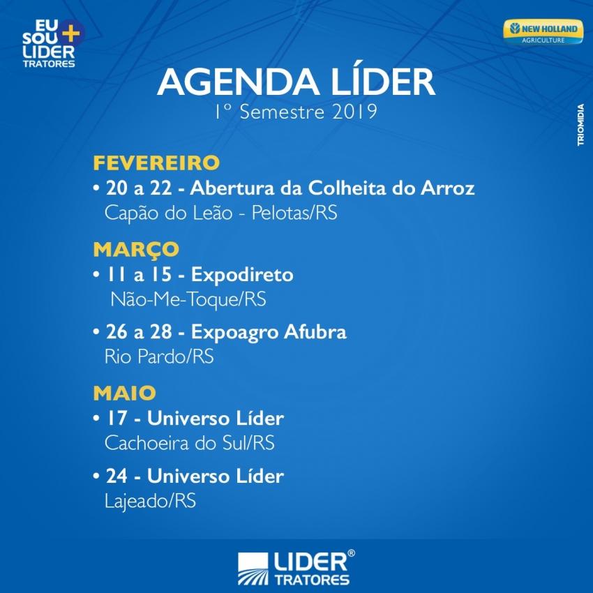 Agenda Líder 1º Semestre 2019
